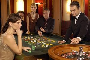 Tavolo da roulette in un casino tradizionale
