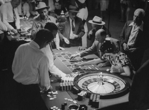 Immagine d'archivio del secolo scorso di un casino